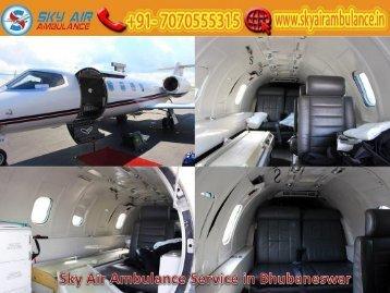 Obtain Sky Air Ambulance Service in Bhubaneswar with Full ICU Setup