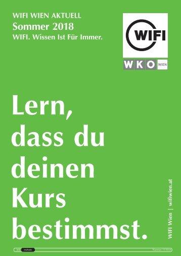WIFI Wien Info Exclusiv - Sommer 2018