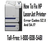 Call 1-800-608-5461 To Fix HP LaserJet Printer Error Codes 52.X And 54.1