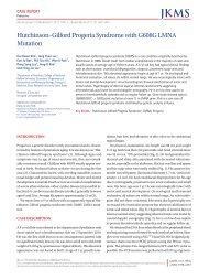 Hutchinson–Gilford Progeria Syndrome with G608G LMNA Mutation