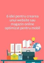 6 idei pentru creare unui website sau magazin online optimizat pentru mobil