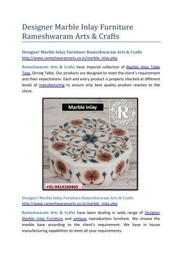 Designer Marble Inlay Furniture Rameshwaram Arts & Crafts