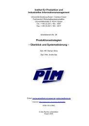 Produktionsstrategien - Institut für Produktion und Industrielles ...
