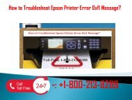 1-800-213-8289 Troubleshoot Epson Printer Error 0xf1 Message