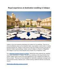 Destination Wedding planner in India