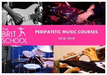 The BRIT School Peripatetic Music Prospectus 2018:19