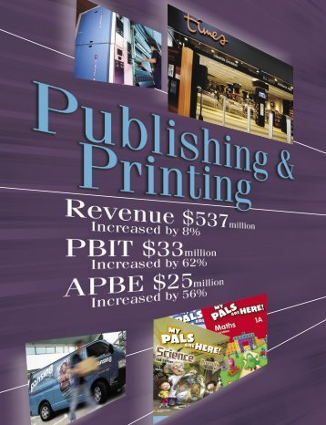Publishing & Printing - Fraser and Neave Limited
