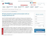 Hospital CEO Mailing Addresses - Healthcare Marketers