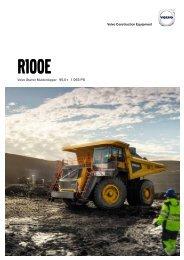 Volvo Muldenkipper R100E - Datenblatt / Produktbeschreibung