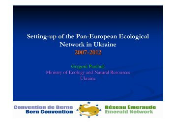 Setting-up of the Pan-European Ecological Network in Ukraine 2007 ...