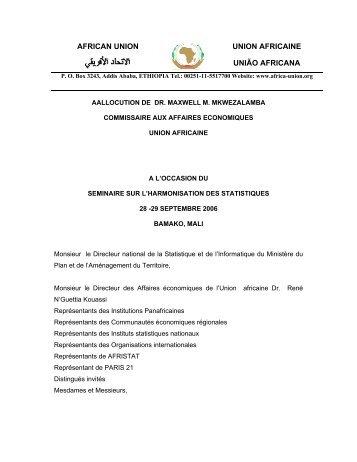 AFRICAN UNION UNION AFRICAINE UNIÃO AFRICANA