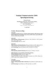 Seminar Sommersemester 2010: Sprachgenerierung - Institut für ...