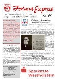 Fortuna Express 69.PUB - ETSV Fortuna Glückstadt eV