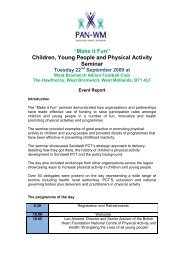 Children, Young People and Physical Activity Seminar - Obesity ...