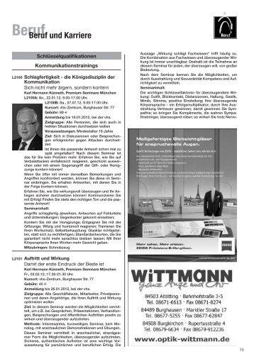 BerufBeruf und Karriere - Volkshochschule Alt-/Neuötting