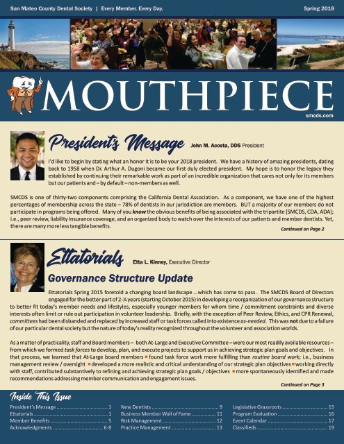 2018 Spring SMCDS Mouthpiece Newsletter