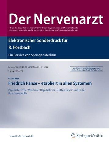 Elektronischer Sonderdruck für Friedrich Panse – etabliert in allen ...