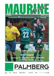 Maurine-Kicker 17/2010 - FC Schönberg 95