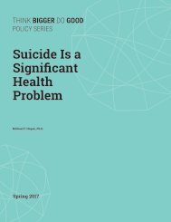 Suicide is a Significant Health Problem
