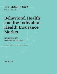 Behavioral Health and the Individual Health Insurance Market