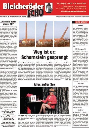 Marion und Eilert Hackbarth - Nordhäuser Wochenchronik