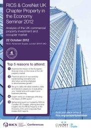 Book your seminar place today - RICS