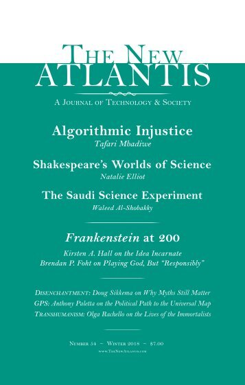The New Atlantis - Winter 2018 (Issue 54) uncompressed with cover