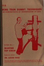116 Wing Chun Dummy Techniques