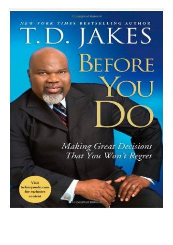 eBook Before You Do Making Great Decisions That You Won't Regret Free online