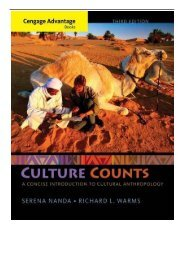 eBook Cengage Advantage Books Culture Counts A Concise Introduction to Cultural Anthropology Free eBook