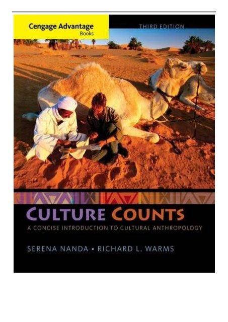 EBook Cengage Advantage Books Culture Counts A Concise