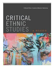 eBook Critical Ethnic Studies A Reader Free online