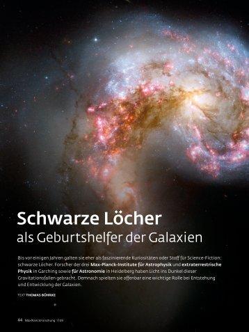 Artikel über schwarze Löcher vom Max Planck Institut.