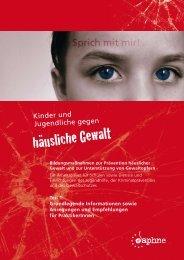 """""""Kinder und Jugendliche gegen häusliche Gewalt"""", PDF 1"""