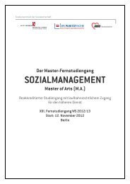 SOZIALMANAGEMENT - Alice Salomon Hochschule Berlin