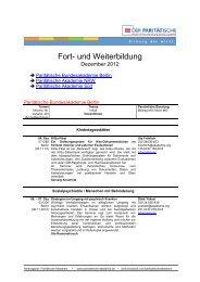 Newsletter Dezember 2012 - in der Paritätischen Akademie