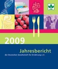 2009 - Deutsche Gesellschaft für Ernährung, DGE