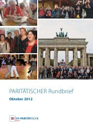 PARITÄTISCHER Rundbrief - Der Paritätische Berlin