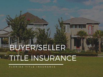 Buyer Seller Title Insurance