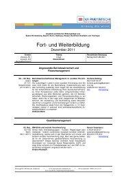 Newsletter Dezember 2011 - in der Paritätischen Akademie