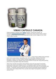 VIMAX CAPSULE CANADA