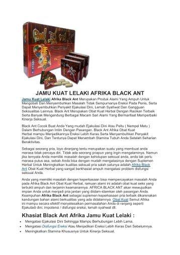 JAMU KUAT LELAKI AFRIKA BLACK ANT