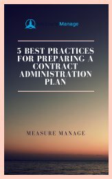 5 Best Practices for Preparing a Contract Administration Plan.