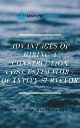 Advantages of Hiring a Construction Cost Estimator  Quantity Surveyor.