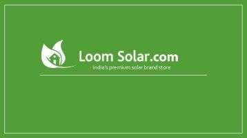 Loom Solar Corporate PPT