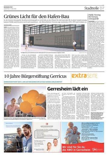10 Jahre Bürgerstiftung Gerricus  -09.06.2018-