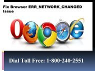 Fix Browser ERR_NETWORK_CHANGED Issue 1-800-240-2551 For Help