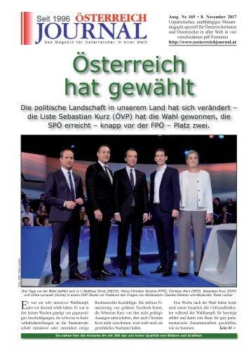 Österreich Journal Ausgabe 169