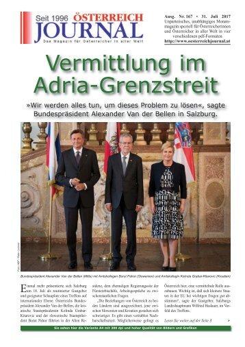 Österreich Journal Ausgabe 167