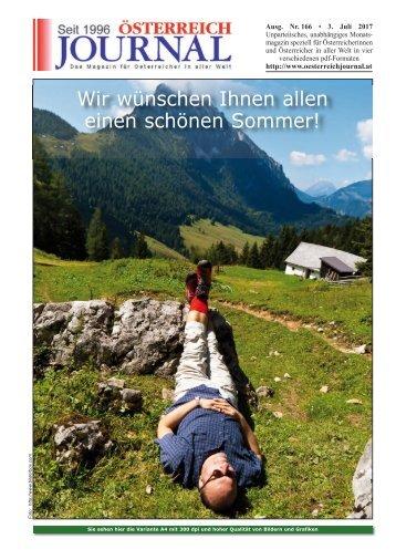 Österreich Journal Ausgabe 166
